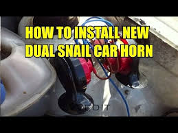 how to install car horn tutorial dual snail horn sound low