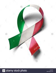 Mexico Flag Symbol Support Mexico Flag Colors Ribbon Isolated On White Background