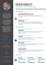 About Me Resume Examples by Craig Dudley Web Designer And Front End Developer