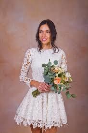 daniela short lace boho wedding dress dreamers and lovers