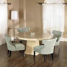 solid wood with granite dining table and chairs set dining room