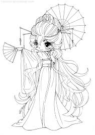 coloriage fille chibi cookie coloriages a imprimer gratuits sap