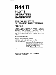 r44 raven ii flight manual poh altitude sea level