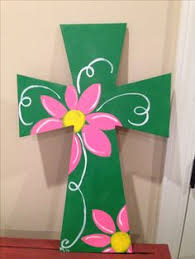 wooden craft crosses painted wooden crosses craft ideas images crosses