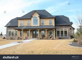 large modern three story house stock photo 2598273 shutterstock