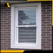 pvc single hung window with shutter china aluminum window
