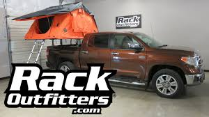 toyota tundra cer top tepui kukenam xl ruggedized roof top tent installed on thule