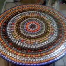 beer cap table top bottle cap table crafts pinterest bottle cap table bottle and