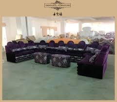 Corner Sofa Living Room Living Room Arabic Style U Shape Purple Corner Sofa Sets Ktv Sofa
