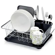 Dish Drainers Kitchen Craft Dish Drainer Rack With Drip Tray 42 X 30 5 X 15 5
