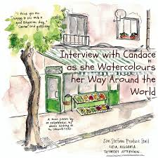 watercolouring her way around the world interview with candace