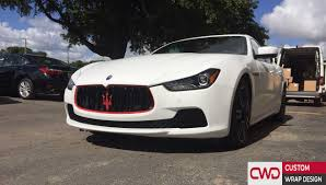 custom maserati ghibli miami car wraps