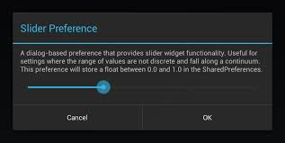 android preferences github jayschwa androidsliderpreference android library that