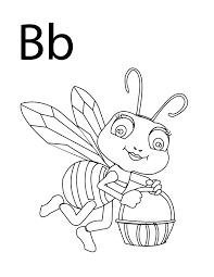 coloring pages letter b