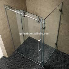 stainless steel frameless sliding glass door tempered glass