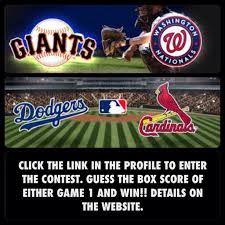 guess the box score of either nlds game 1 and win a