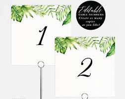 Table Tents Template Wedding Table Tents Etsy