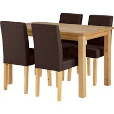 Buy Madison Oak Stain Dining Table And  Chocolate Chairs At Argos - Argos kitchen tables