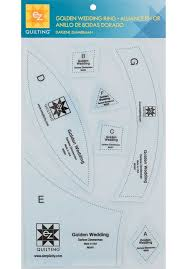 ez quilting golden wedding ring template sew essential