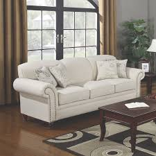 traditional sofas with wood trim approved traditional sofa amazon com coaster home furnishings 501154