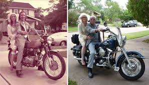 40 year anniversary gift recreates wedding pics from 1975 to celebrate their 40th