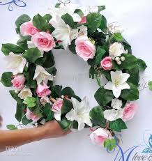 cheap garlands for weddings 2017 silk simulation artificial flower garlands wedding