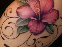 Flower Tattoos On - hawaiian flowers tattoos design and meanings