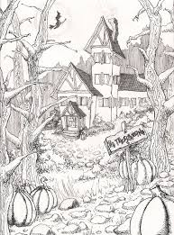 advanced halloween coloring pages difficult halloween coloring