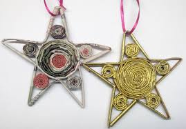 diy how to recycled newspaper christmas star ornament youtube