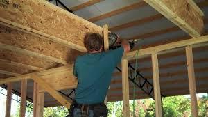 installing 27 ft i beams alone youtube