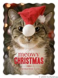 meowy christmas cat meowy christmas photo card christmas cards
