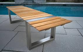 modern outdoor patio furniture teak outdoor bench treenovation