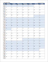 Monthly Planning Calendar Template Excel Continuous Monthly Calendar And Other Free Templates Homeschool