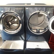 Kenmore Elite Washer Pedestal Best Navy Blue Kenmore Elite Steam Washer And Steam Dryer With