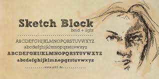 sketch block font dafont com