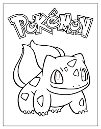 bulbasaur coloring sheet coloring pages pinterest