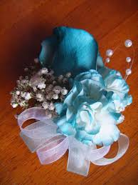 teal corsage teal carnation corsage by eatsoupwithsticks on deviantart