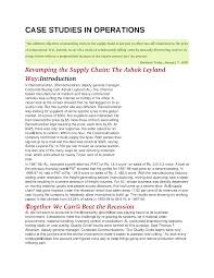 case studies in operations documents