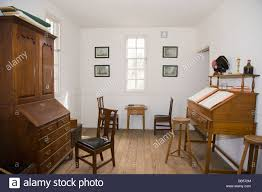 interior of a house in colonial williamsburg virginia stock photo