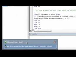 excel 2010 quick tip how to sort worksheets alphabetically youtube