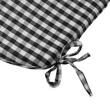 Tie On Chair Cushions Gingham Check Tie On Seat Pad 16
