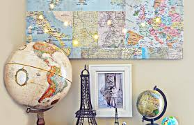 Ruby Map 19 Gorgeous Travel Inspired Diy Projects Happy To Wander