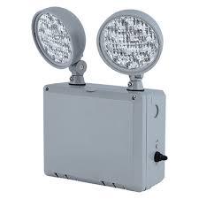 emergency lighting battery life expectancy ledtfx 2 emergency light wet location elc