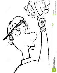 basketball player sketch stock illustration image of white 8495969