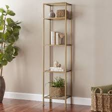 iron off the living room wood bookcase shelves display showcase flower jewelry rack shelf ikea industrial bookcases birch lane