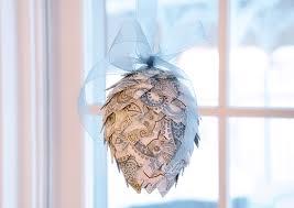 paper pinecone ornament a k a getting my martha stewart on one