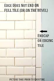 beveled subway tile beveled subway tiles pewter grout beveled edge