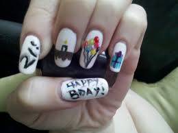 22 birthday nail design nailificent birthday cake nail art biz
