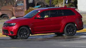 jeep hawk track jeep grand cherokee trackhawk u0027s monster motor spied
