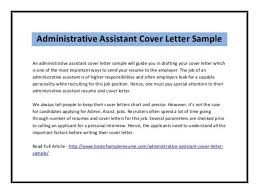 cover letter sample administrative assistant cover letter tips